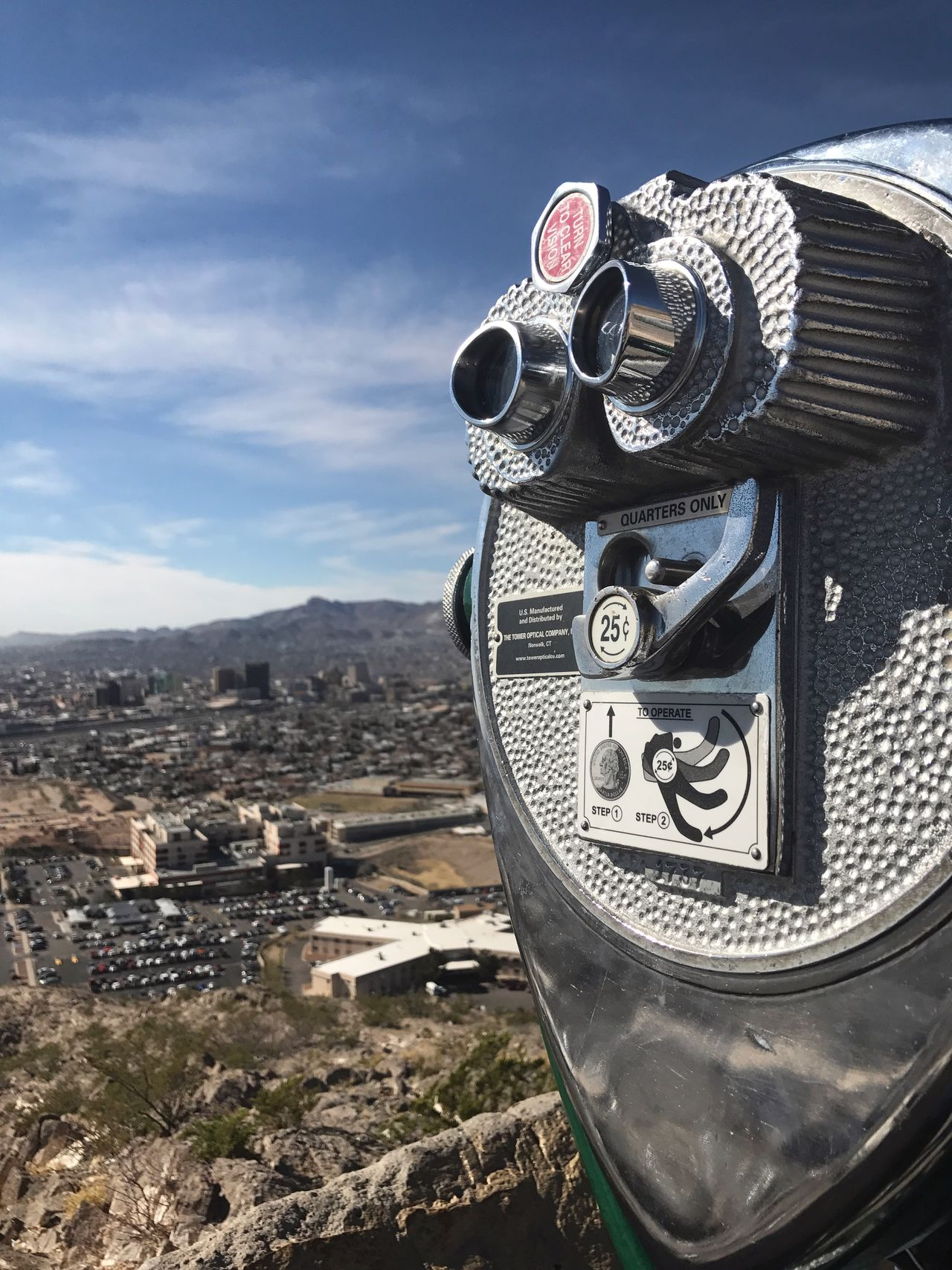 Building Exterior Day Coin-operated Binoculars Sky Architecture Built Structure Outdoors No People Close-up Cloud - Sky Mountain Cityscape Nature El Paso Tx El Paso Scenic View Scenic Drive In ELP Scenic Drive City Life City