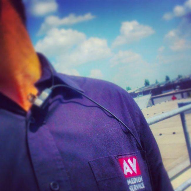 Arbeitarbeit über den dächern von ingoldstadt Audi Cinestar Rauchen avmedienservice headset blablabla