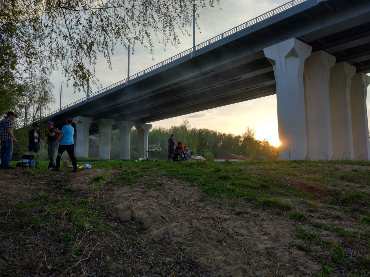 Bridge - Man Made Structure People Outdoors Nature The Week On EyeEem Green Color Новосибирск Novosibirsk Bridge Rest мост отдых Природа