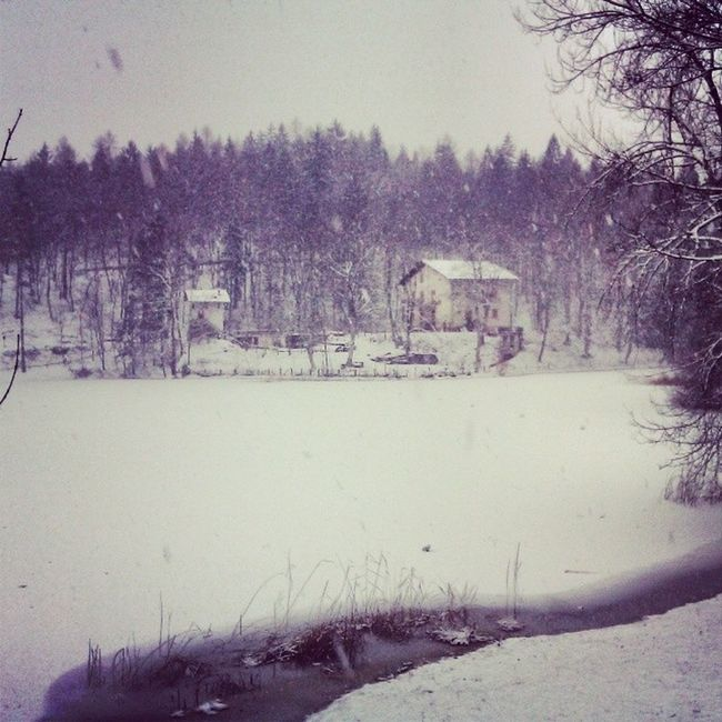 House Snow Cei Lake Lago Ghiacciato Cold