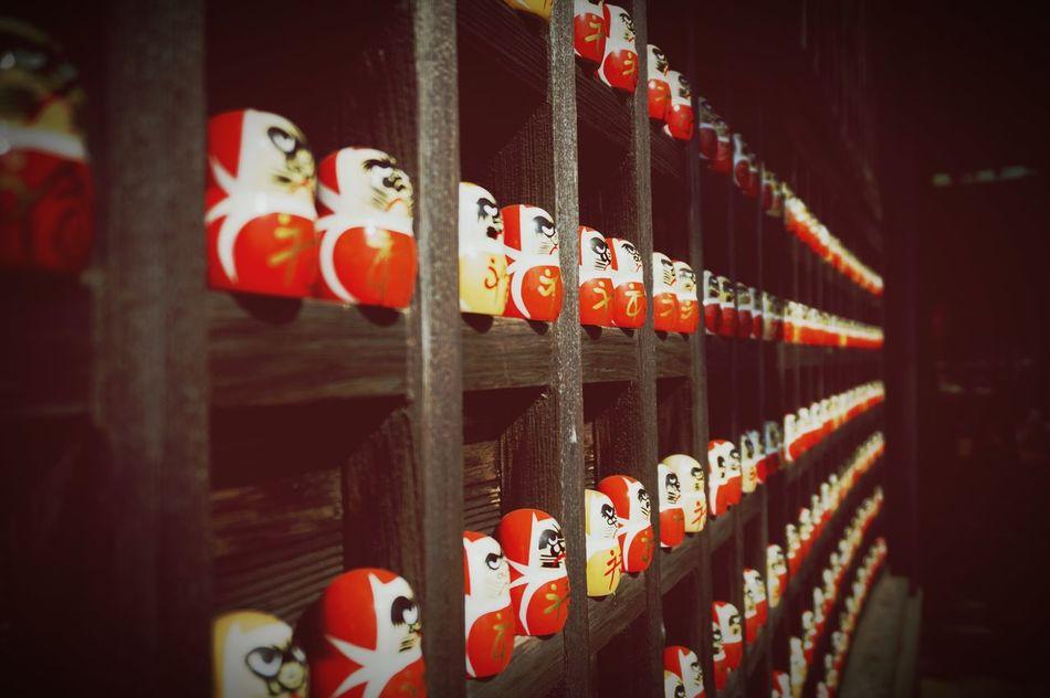Osaka, Japan Minoh, Osaka Red In A Row No People Alcohol Close-up Indoors  Day 箕面 勝尾寺 和 ダルマ