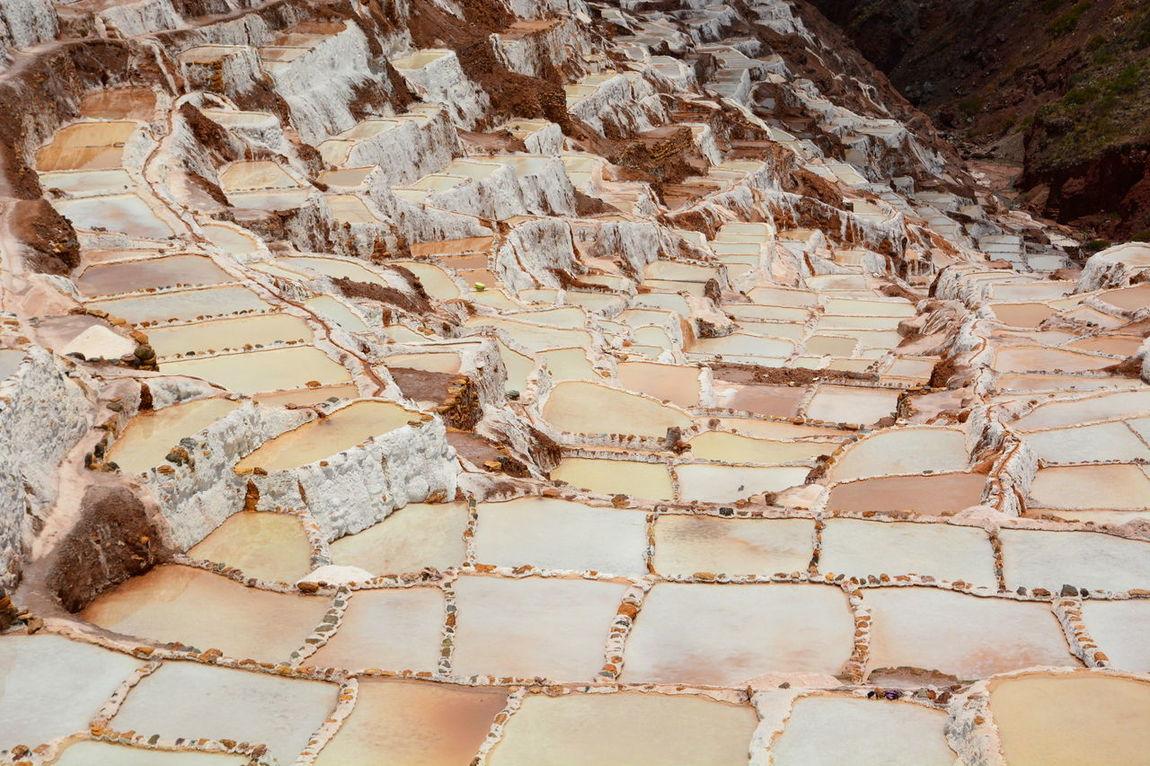 The salt evaporation pond. Maras. Sacred Valley. Peru Cusco Cuzco Eyeem Perú Inca Landscape Maras Maras - Peru Nature No People Outdoors Peru Peruvian Quechua Sacred Valley Salinas Salinas De Maras Salt Salt Evaporation Pond Scenics Travel Valle Sagrado Water White