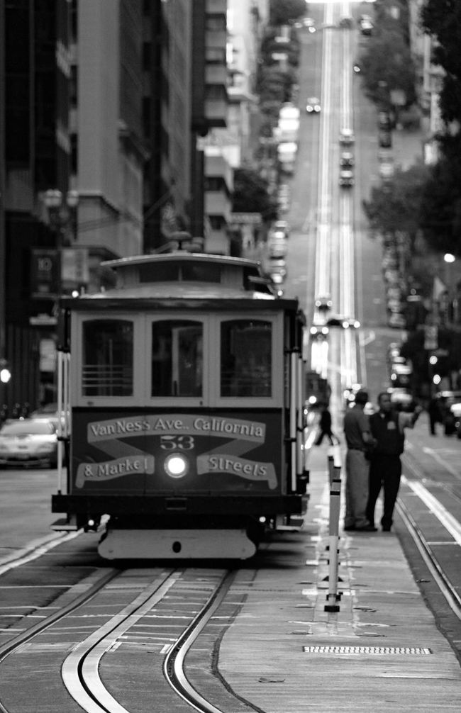 San Francisco Twilight Dusk Travel Trip Photo Travel Photography Traveling Trip Road Car Transportation Blackandwhite Photography Black & White Black And White Blackandwhite Black&white B&w Shadows & Lights Shades Of Grey Silhouette City Train USA