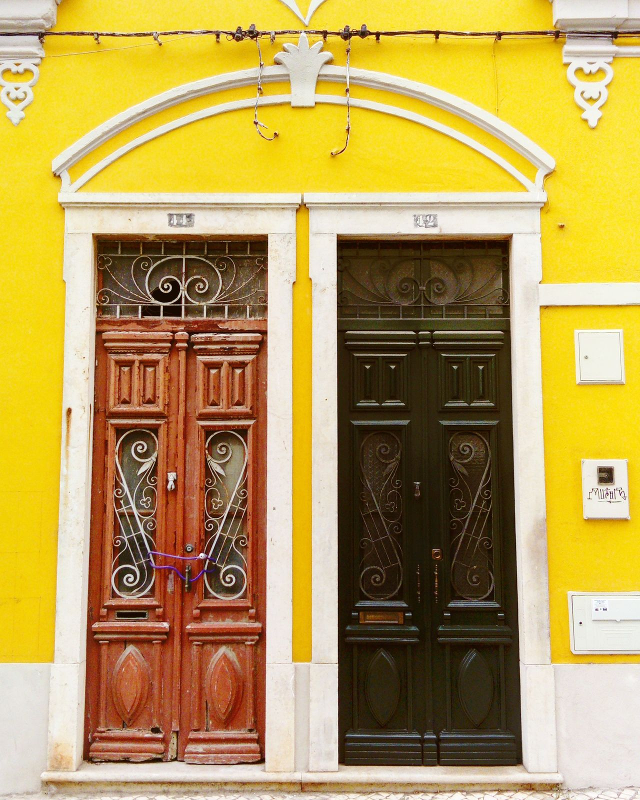 Door Architecture Entrance Outdoors Building Exterior Yellow Ornate Built Structure Day Façade No People Close-up Multi Colored Old Buildings Abandoned Place With Restored Faro, Portugal 🎈👻 Paint The Town Yellow