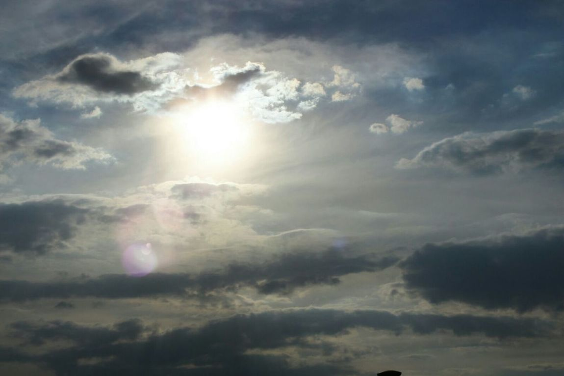 """Is hot"" Sun Cloud - Sky Sunbeam Quiet Afternoon Hot Afternoon Goodbye Mister Sun"