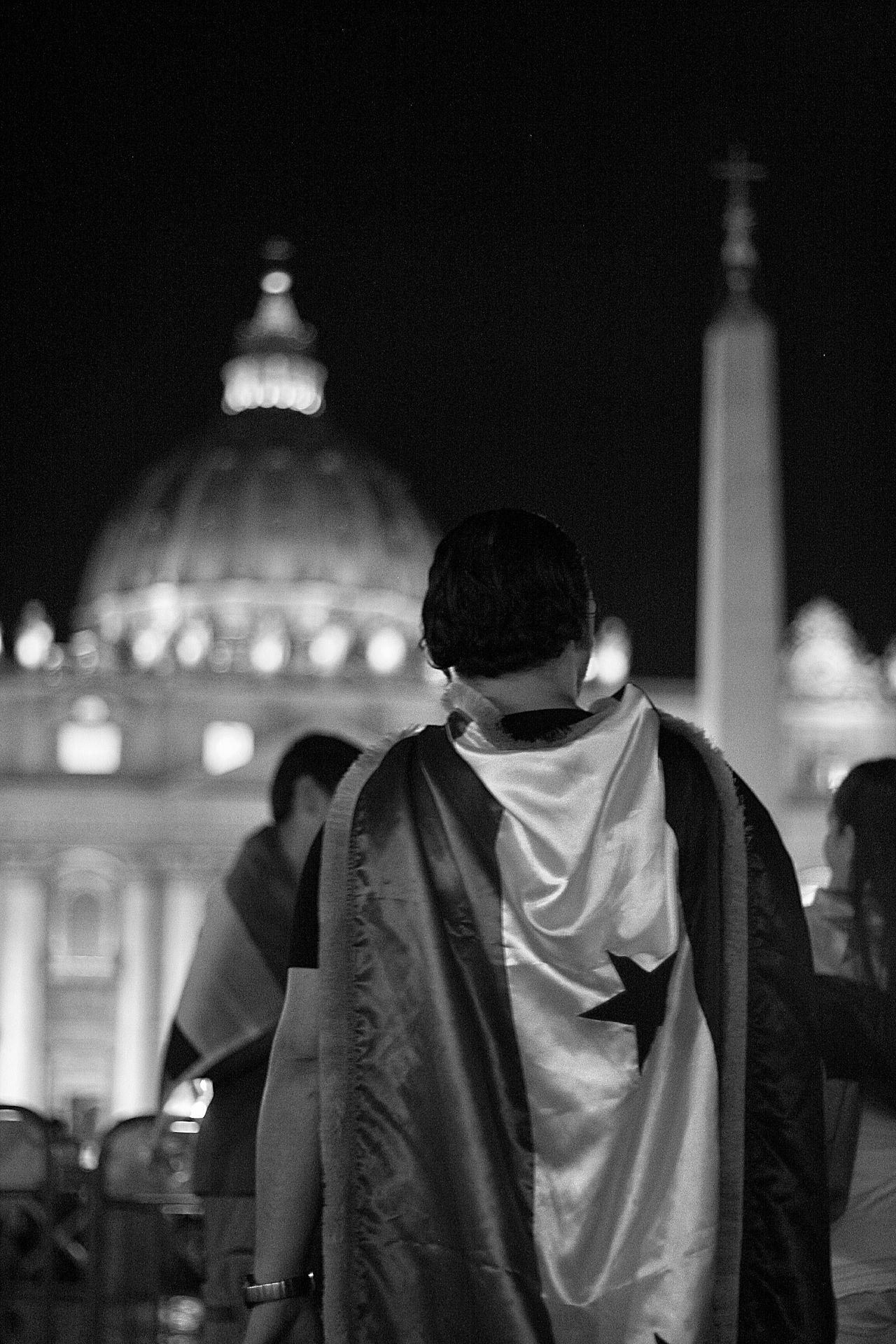 Blackandwhite Monochromatic Monochrome Black & White Jesus Christ Jesus Peace Vatican Vaticano Black And White B&w Street Photography