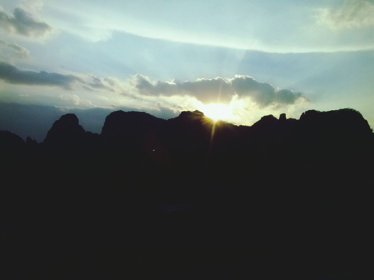the sun. the beautiful sky.