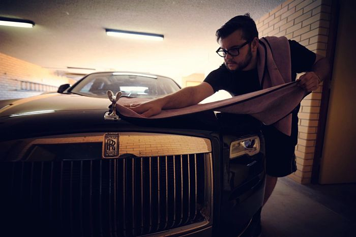 Detailing to protection Car Mode Of Transport One Person Rolls Royce Detail Clean Indoors