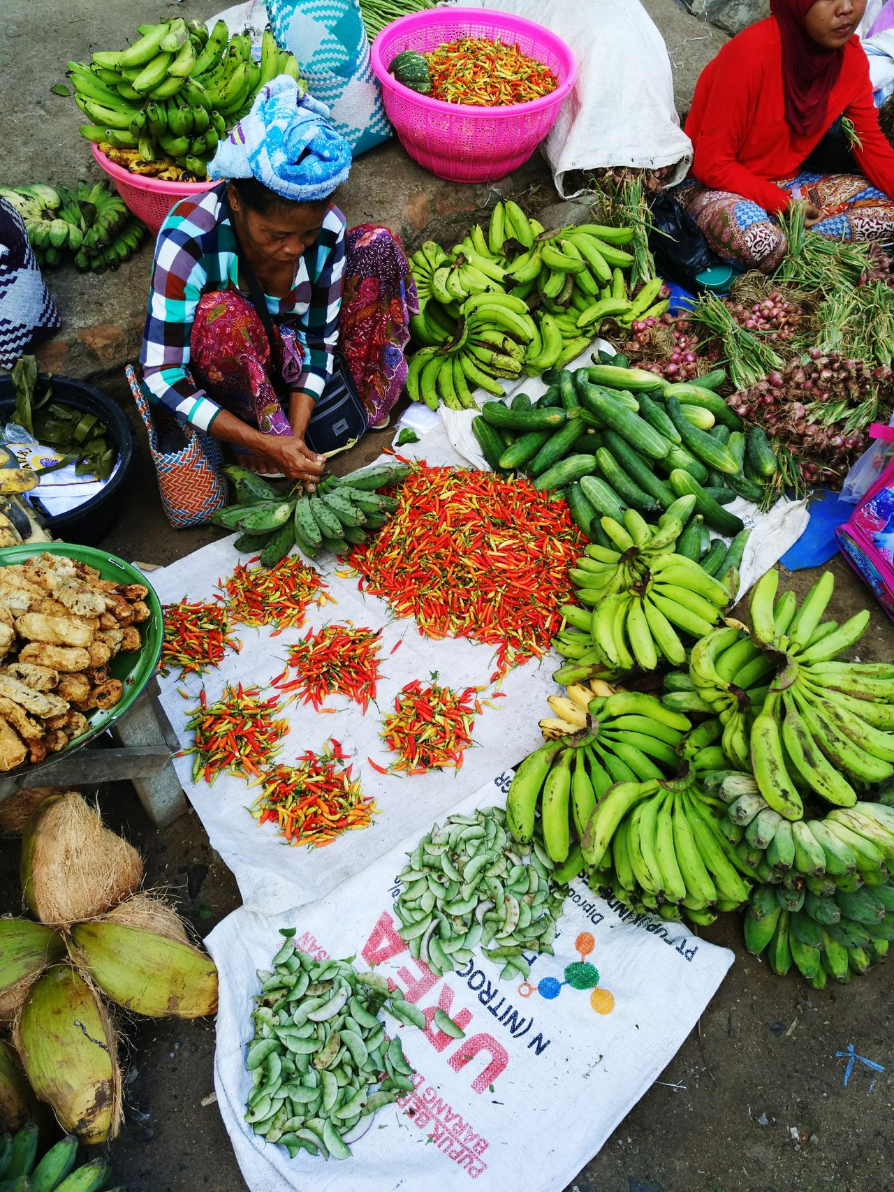 Wet Market Kuta Lombok INDONESIA