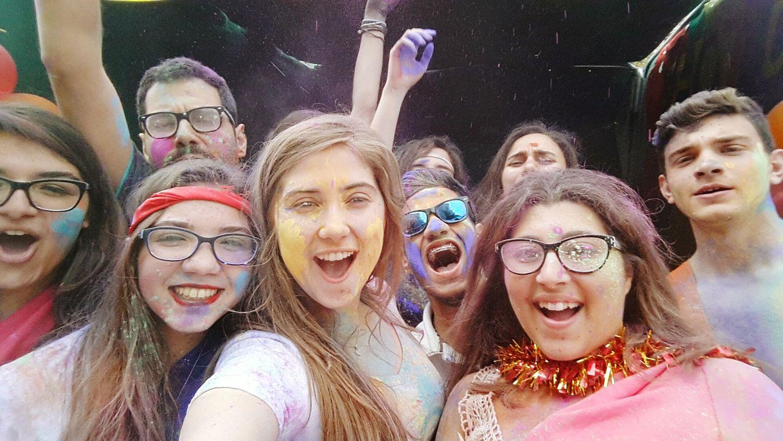 Happy Holi Powder Colours Friends ❤ Love MUN GCLAUMUN Global Village Finito