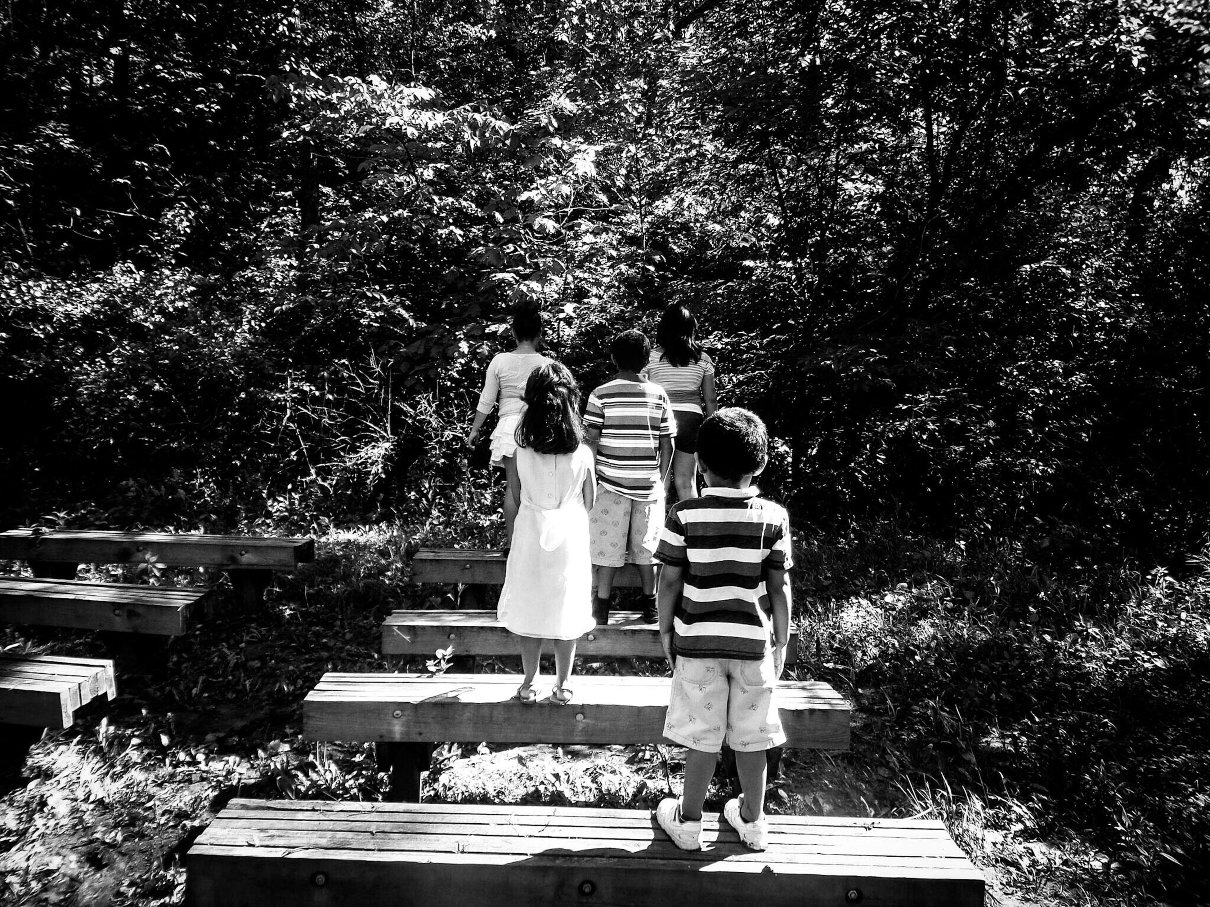 B&W Portrait Spooky Children Of The Korn Trees Photography Memories Park