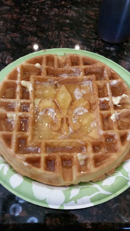 Waffles Fluer De Lis Breakfast Welcome to Louisiana.