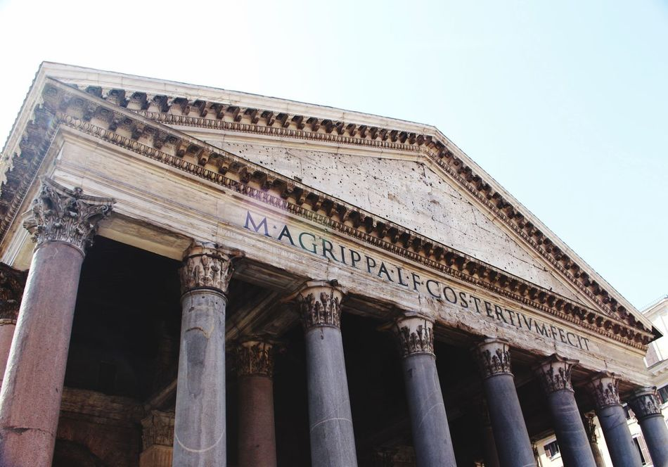 🏛 Pantheon Rome Italy First Eyeem Photo Low Angle View Architecture No People Canon