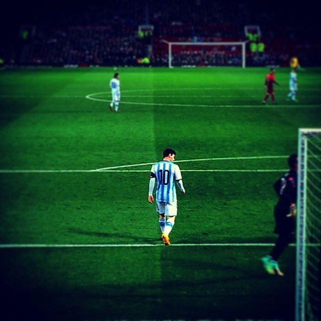 LionelMessi at Oldtrafford . ArgentinaVsPortugal Football Ronaldo photography by NurPhotography