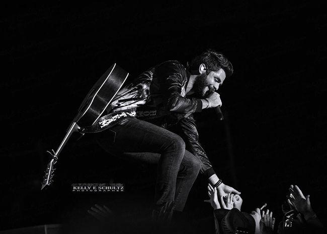 Thomas Rhett at CMA Fest, Nashville Country Music Black And White Photography Concert Photography Music Photography  Musicfestival Cmafest Thomas Rhett Music Fans Moment Captured Music Brings Us Together