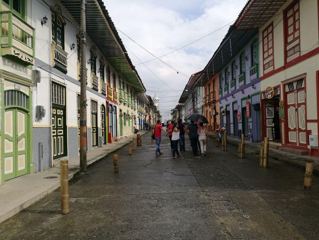Architecture Building Exterior Outdoors Scenics Travelling Live In Colombia Eje Cafetero Rural Scene Filandia Colombia