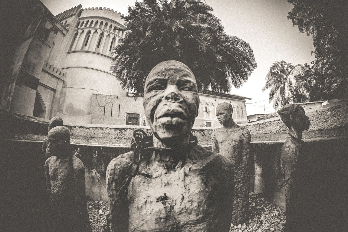 Africa Blackandwhite Day History Monochrome Monument Outdoors Sculpture Slave Market Slavery Slaves Statue Stone Town
