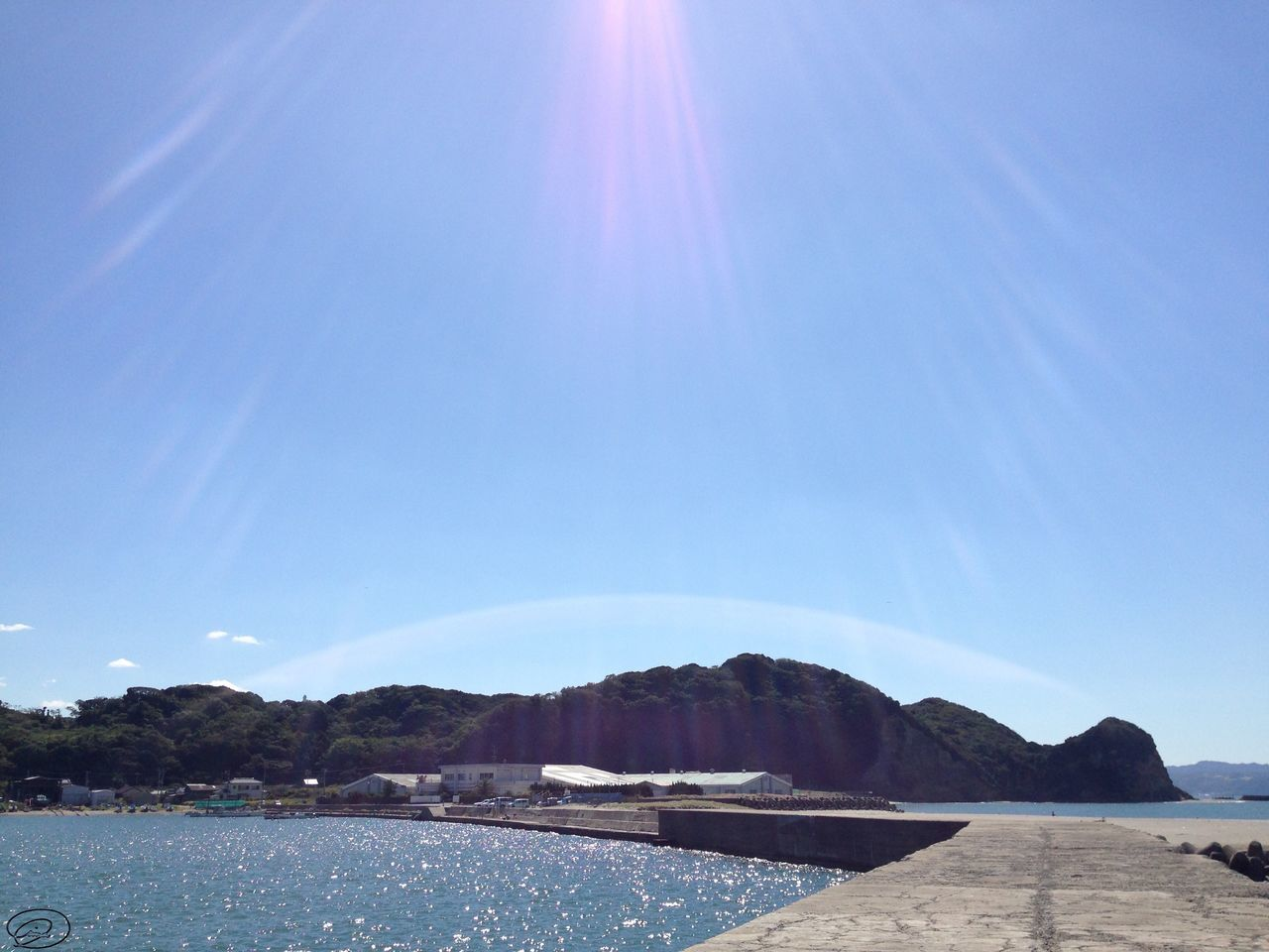 Blue Sky Nature Tranquility Water Scenics Tranquil Scene Beauty In Nature Sunlight Outdoors Sunbeam Mountain Sea Sun Day No People Landscape Architecture Japan Japan Photography Adventure