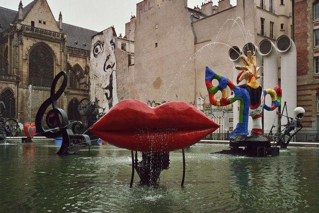 Stravinsky Fountain Paris, France Architecture Art Building Built Structure Church City City Life Dalí Day Fountain France Graffiti Landscape Lips Monument Music No People Outdoors Paris Salvadordali Sky Stravinsky Stravinsky Fountain StravinskyFontaine Water