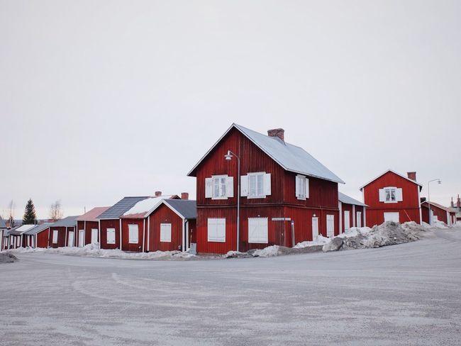 Red Gammelstad Lapland