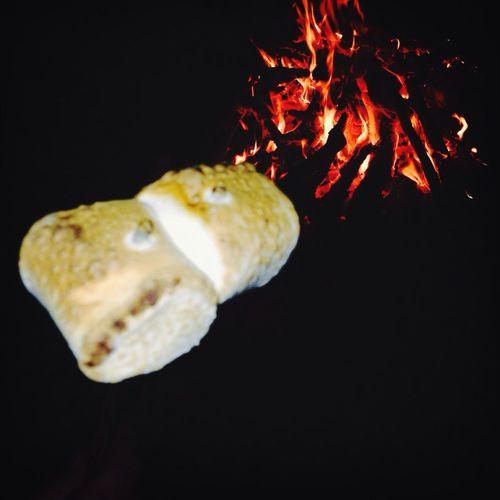 Late night bonfire