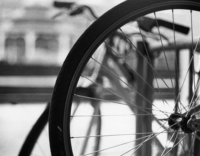 Here's an old print from my photo one class...thought I'd post it for CyclingUnites Bicycle Mode Of Transport Transportation Land Vehicle Close-up Focus On Foreground Wheel Spoke Vehicle Part Tire No People Horizontal Day Blackandwhite