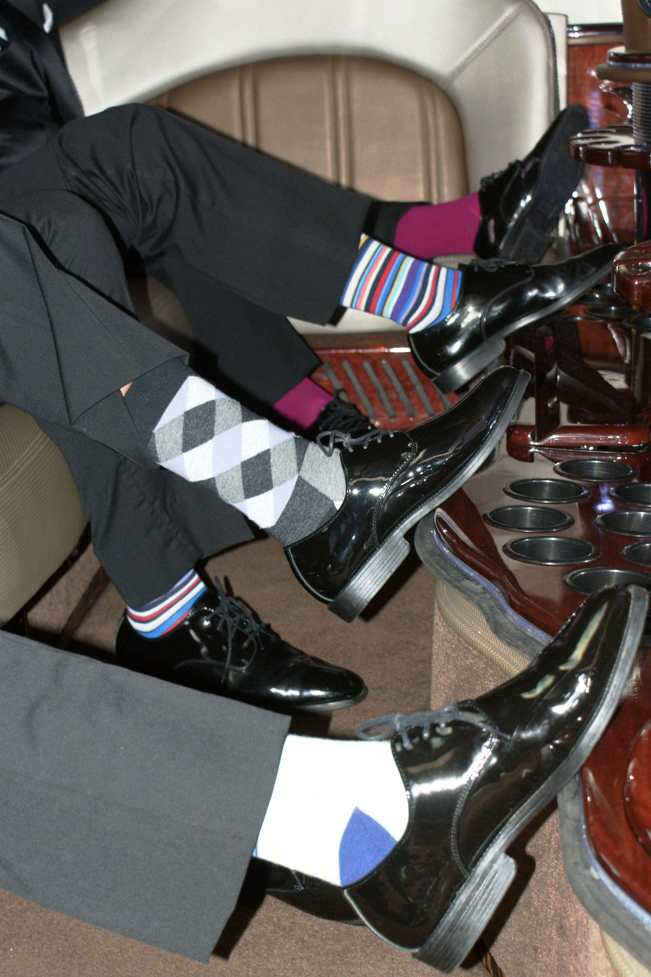 Dress Shoes Fashion Feet Up And Chill Formal Limosine Men Men's Sox Soxs Style