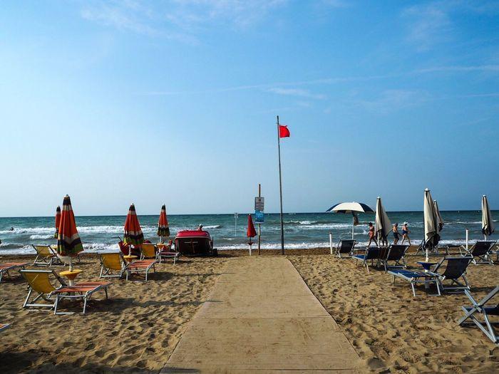 Bibione Beach, Italy Beach Sand Nature Sky EyeEmNewHere Water Travel Destinations Traveling Blogger Italy Bibione