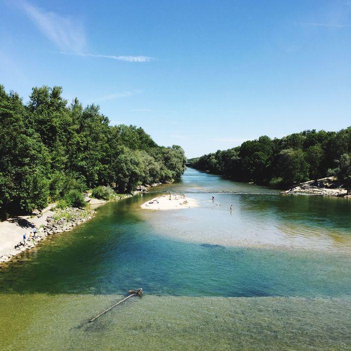 Isar River Nature Summer Views