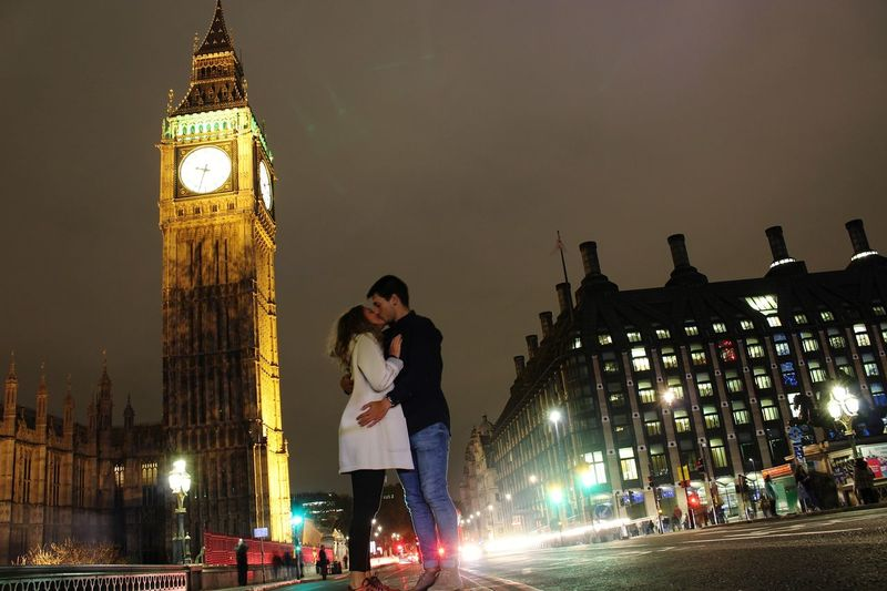 Live For The Story Lifeforthismoments Clock Tower Illuminated City Travel Destinations London Night Birthday Speed Outdoors Two People People Clock Adult Blurred Motion Ferris Wheel Men Adults Only Women Time Clock Face Young Adult Sky