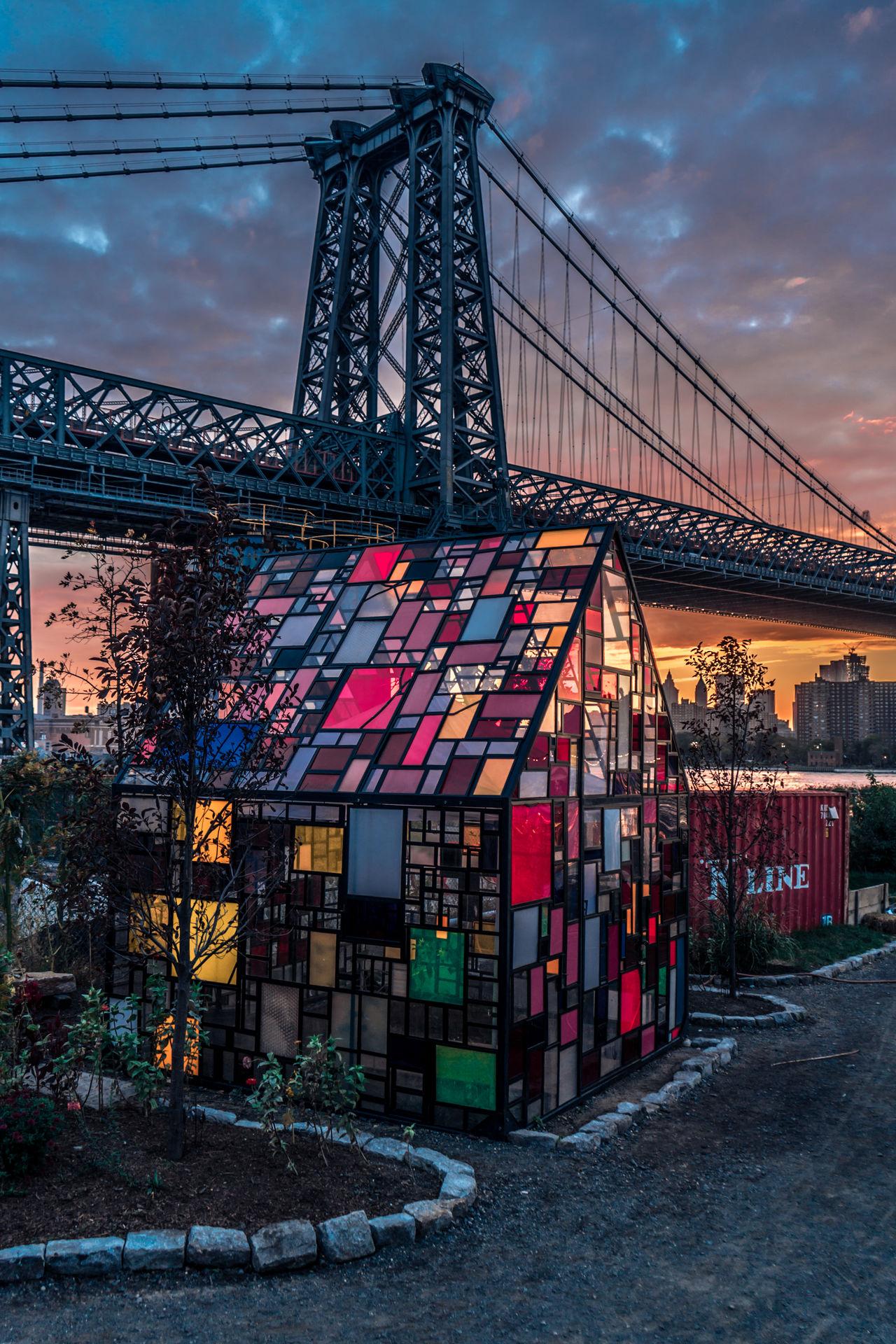 Bridge Brooklyn City City Cityscape Color Long Exposure New York New York City Outdoors Sunset Tones Travel Destinations
