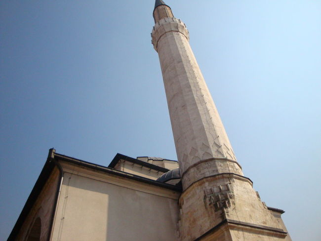 Architectural Column Architectural Feature Architecture Bascarsija Blue Bosnia And Herzegovina Built Structure Capital Cities  Clear Sky Column Culture Day High Section Low Angle View Monument Mosque No People Outdoors Sarajevo Sky Tall Tall - High Tourism Travel Destinations