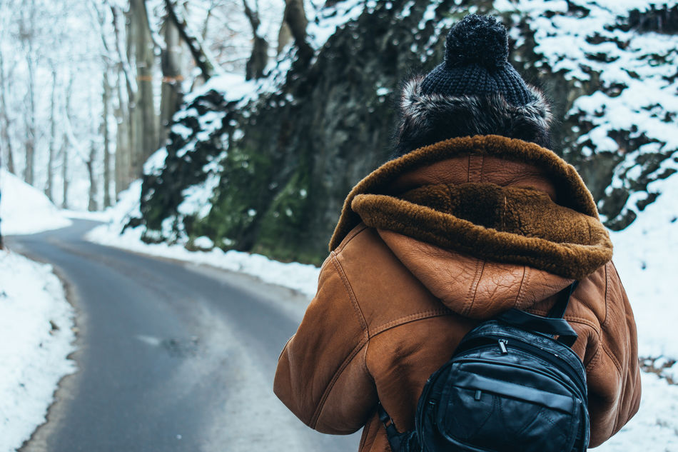 Beautiful stock photos of forest, 45-49 Years, Backpack, Brown, Cold Temperature