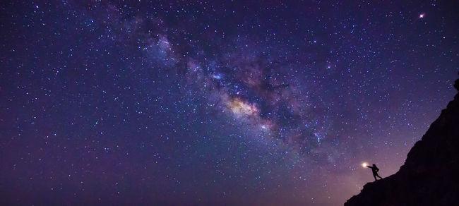 Galaxy Lanzarote Island Light Milky Way Night Sky Not Enough Saggittarius Sky