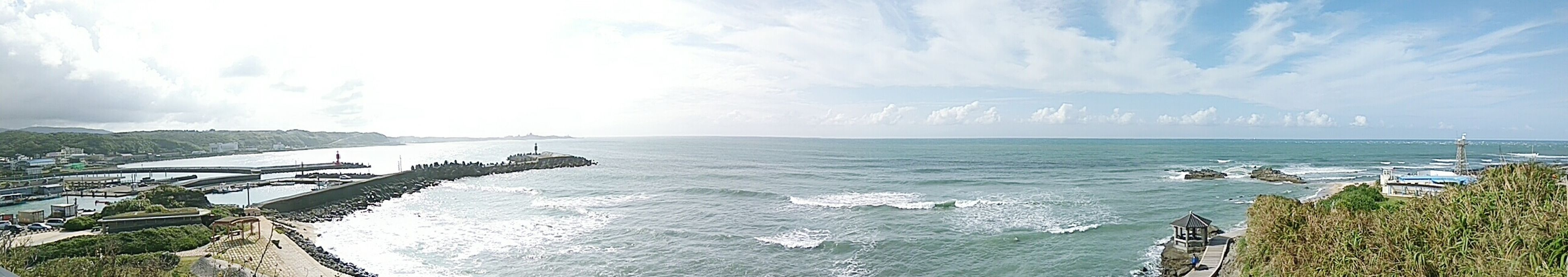 water, sea, high angle view, horizon over water, scenics, panoramic, beauty in nature, tranquil scene, sky, tranquility, idyllic, tourism, travel destinations, non-urban scene, vacations, nature, outdoors, day, cloud - sky, seascape, cliff, coastline, aerial view, shore, remote, majestic