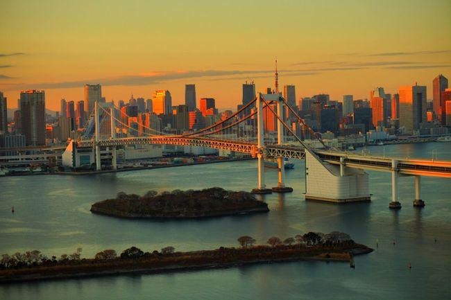 Bridge Reinbow Bridge Sanset Ultimate Japan 43 Golden Moments Battle Of The Cities