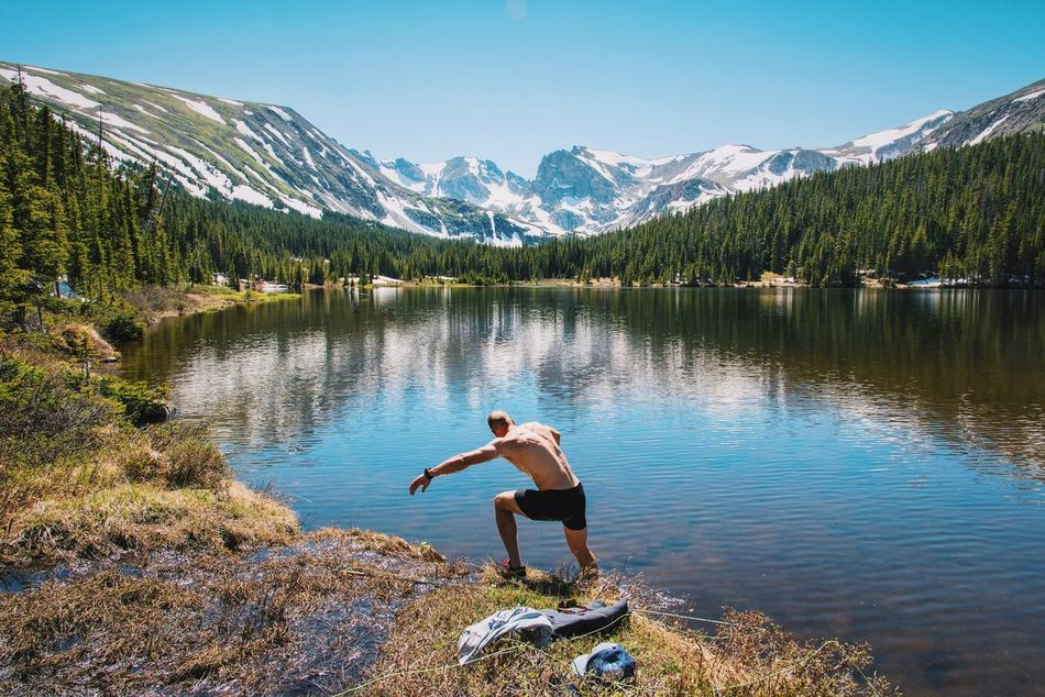 Beautiful stock photos of schwimmen, beauty in nature, lake, nature, reflection