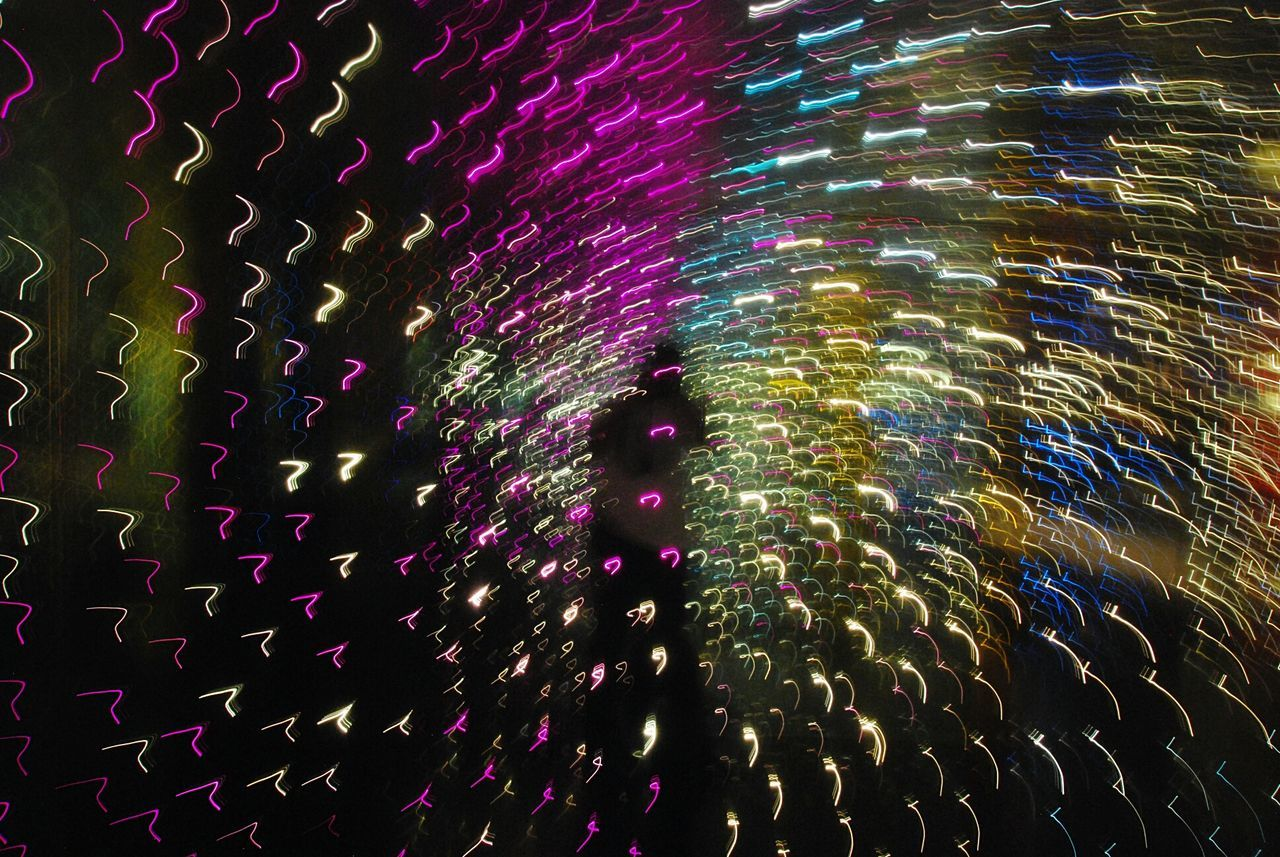 celebration, night, firework display, long exposure, multi colored, exploding, blurred motion, illuminated, firework - man made object, motion, low angle view, arts culture and entertainment, no people, outdoors, sky