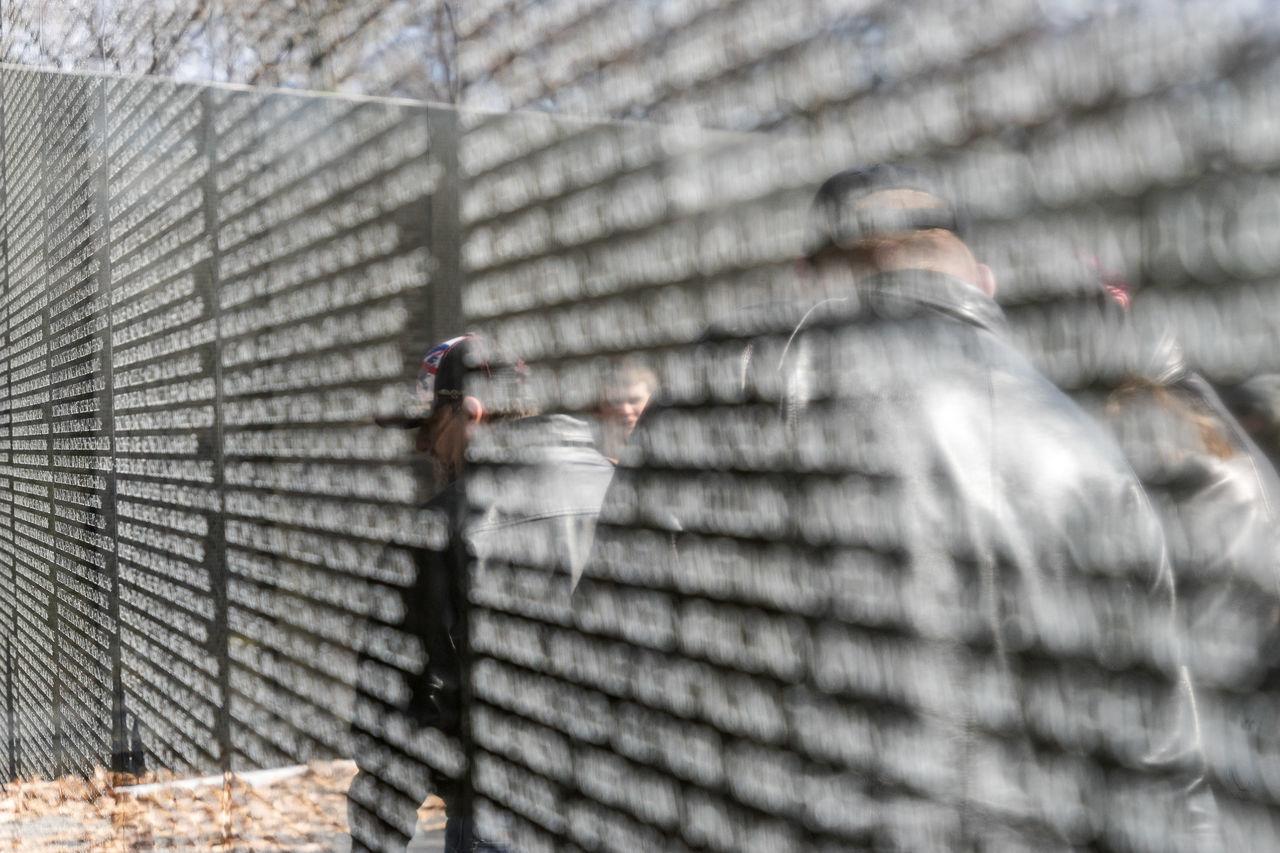 America Capital Cities  D.C. Day Fallen Hand Memorial Names Reflections Sightseeing Soldier USA Vietnam Vietnam War Memorial Wall War Washinton The City Light What You Do Matters Washington, D. C.