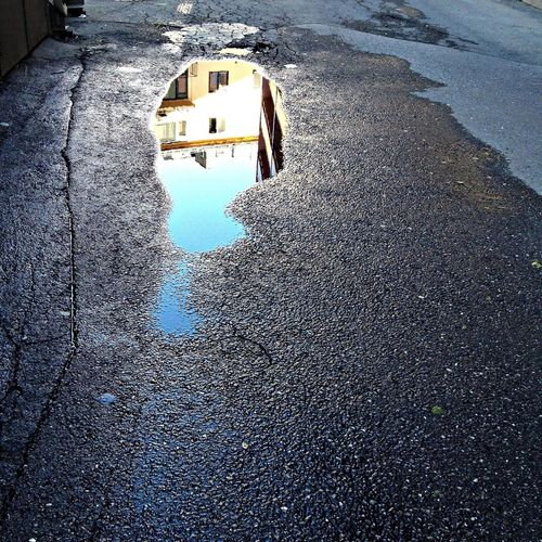 Reflection Water Puddle Puddleography