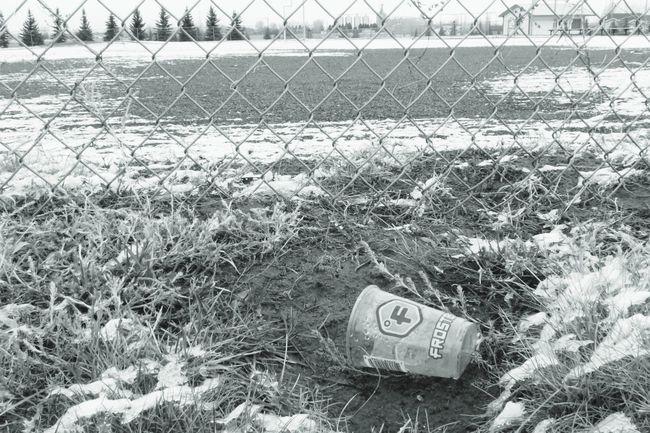 don't litter anywhere Nature Winter Snow Litter Diamond Pattern B&w December