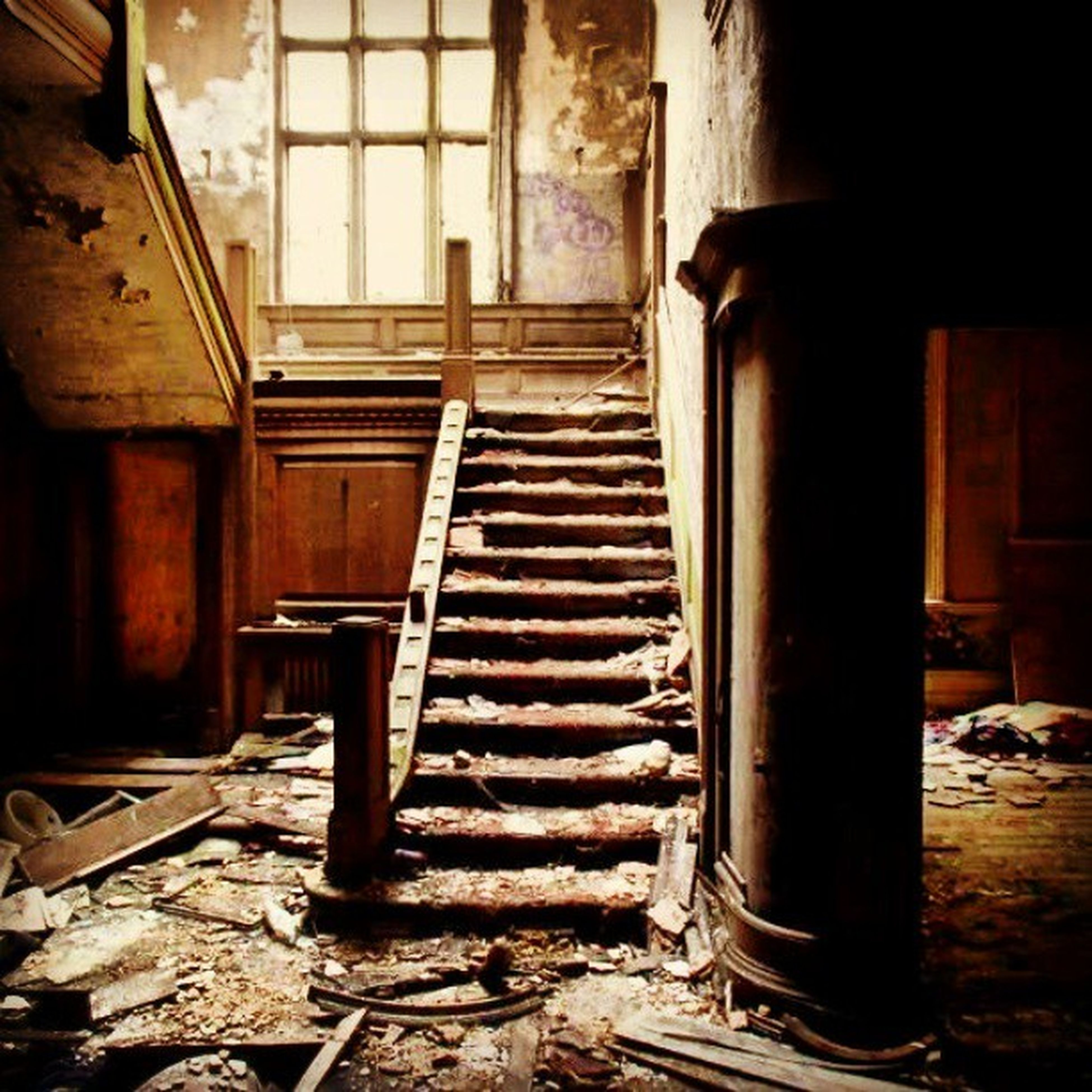 indoors, abandoned, old, obsolete, run-down, damaged, deterioration, built structure, architecture, weathered, wood - material, bad condition, house, interior, ruined, no people, door, destruction, absence, day