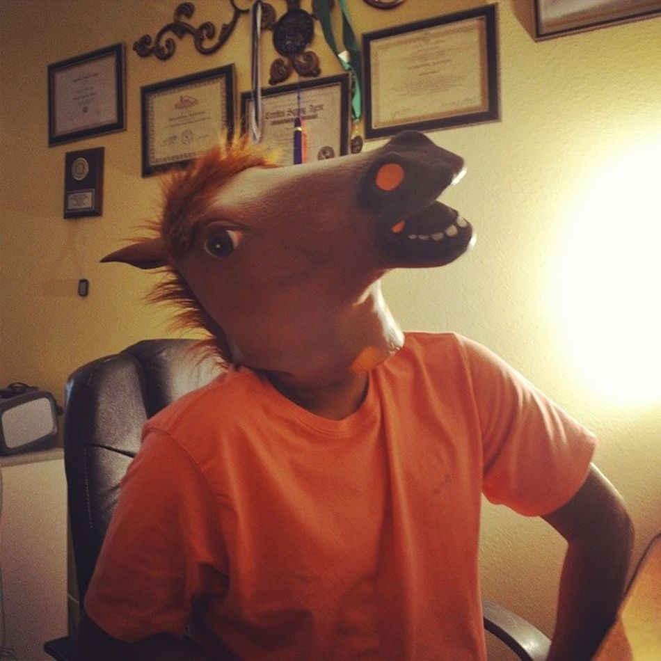 Happy father's day to the greatest dad ever. Most people think their dad is thr best, but let's be honest, no dad will ever be this awesome Happyfathersday Horsemask Mydadisahorse Nowyouknow bestdadever