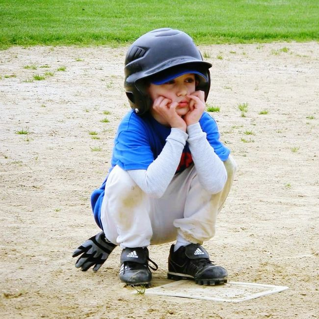 Testing Eyeem. My First Photo On Eyeem. Baseball Grandkid Kids Kids Playing Ball Baseball T-ball