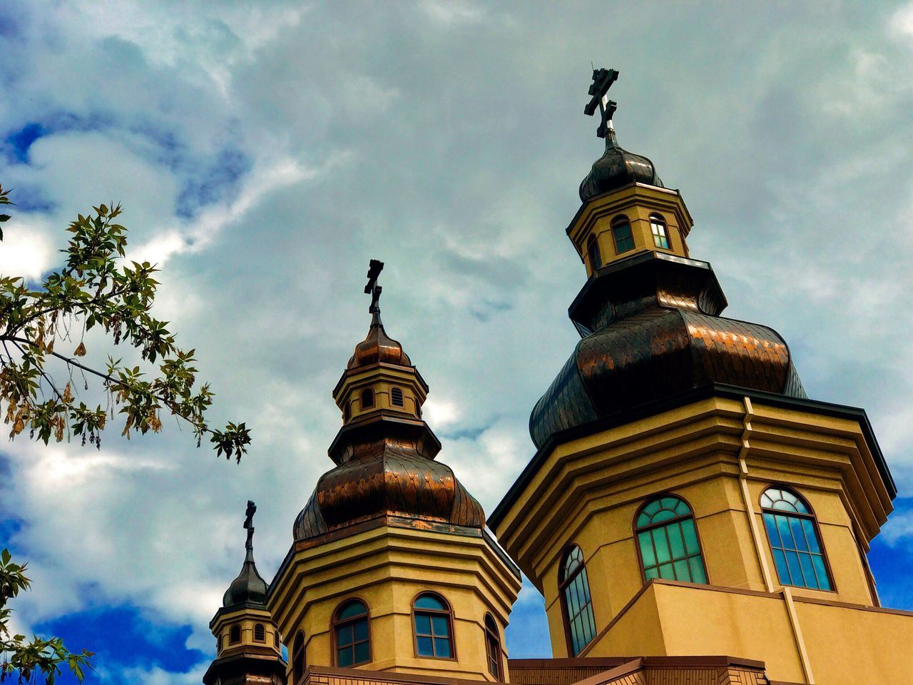 Architecture Low Angle View Sky Built Structure Religion Building Exterior Cloud - Sky Place Of Worship Spirituality No People Day Outdoors Blue Sky Church IPhone 7Plus IPhoneography Architecture