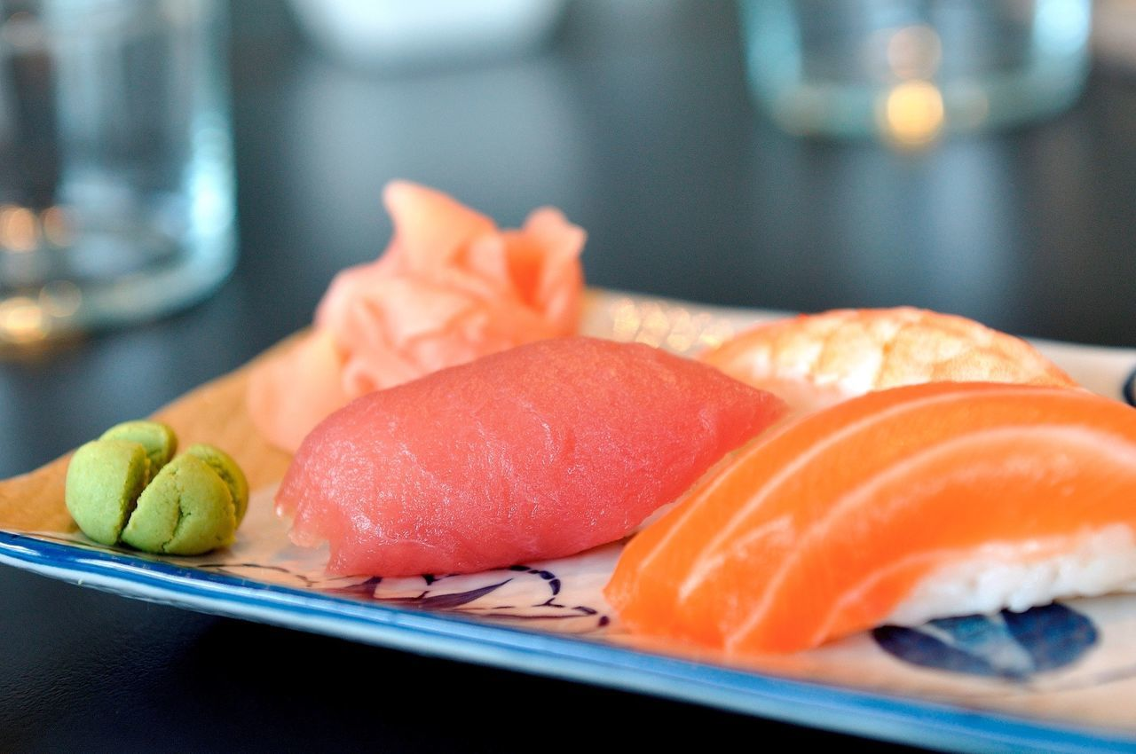 #eat #fish #food #cooking #dinner #foodphotography #foodporn #salmon #sushi #wasabi Close-up Food Food And Drink Freshness Healthy Eating Studio Shot Table