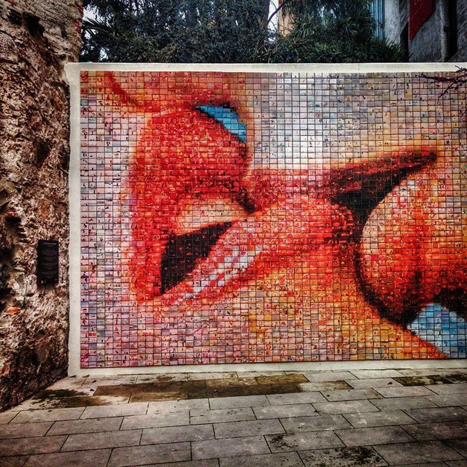 Barcelona Barrigothico Catalunia Barça Mosaic Kiss
