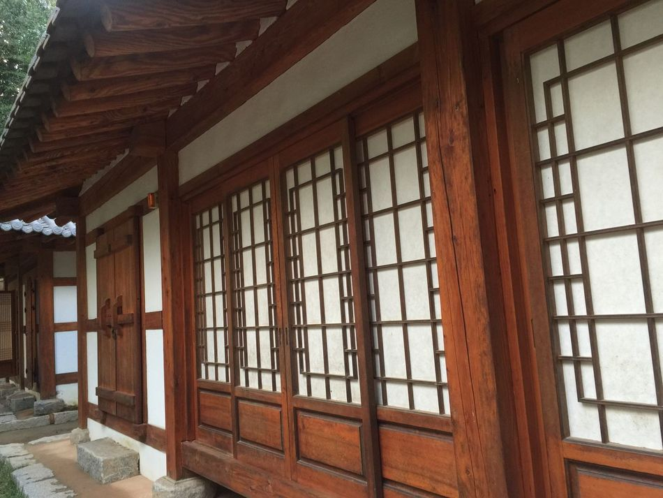 Korean-style House Window Architecture Built Structure Indoors  House Day No People Window Frame