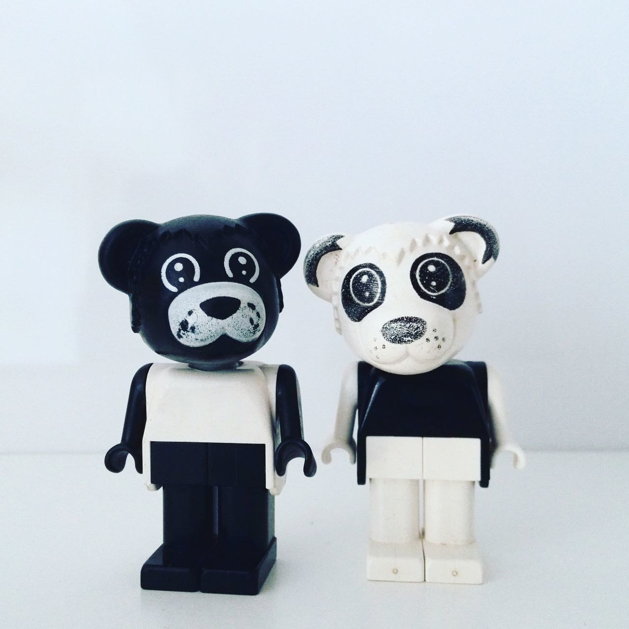 Affection Bear Black Black And White Blackandwhite Couple Day Fable Fabuland Family Figure Figurine  Indoors  LEGO Legolove Love No People Panda Relationship White White Background