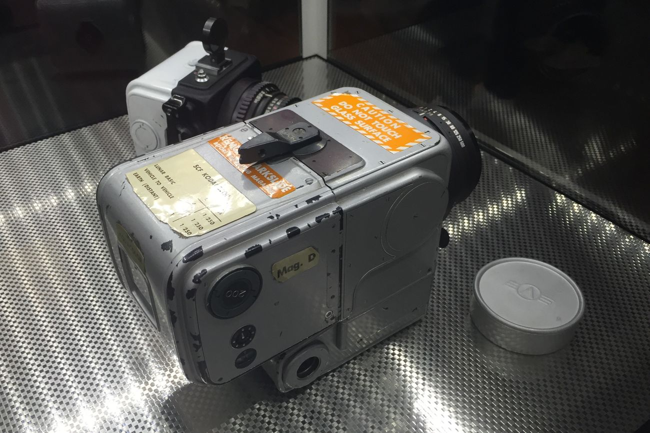 This is the Hasselblad that was used by NASA to train the Apollo 11 astronauts for lunar photography. Hasselblad NASA Camera Moon Moon Landing